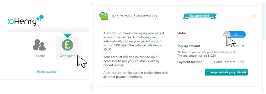 switch on auto top up