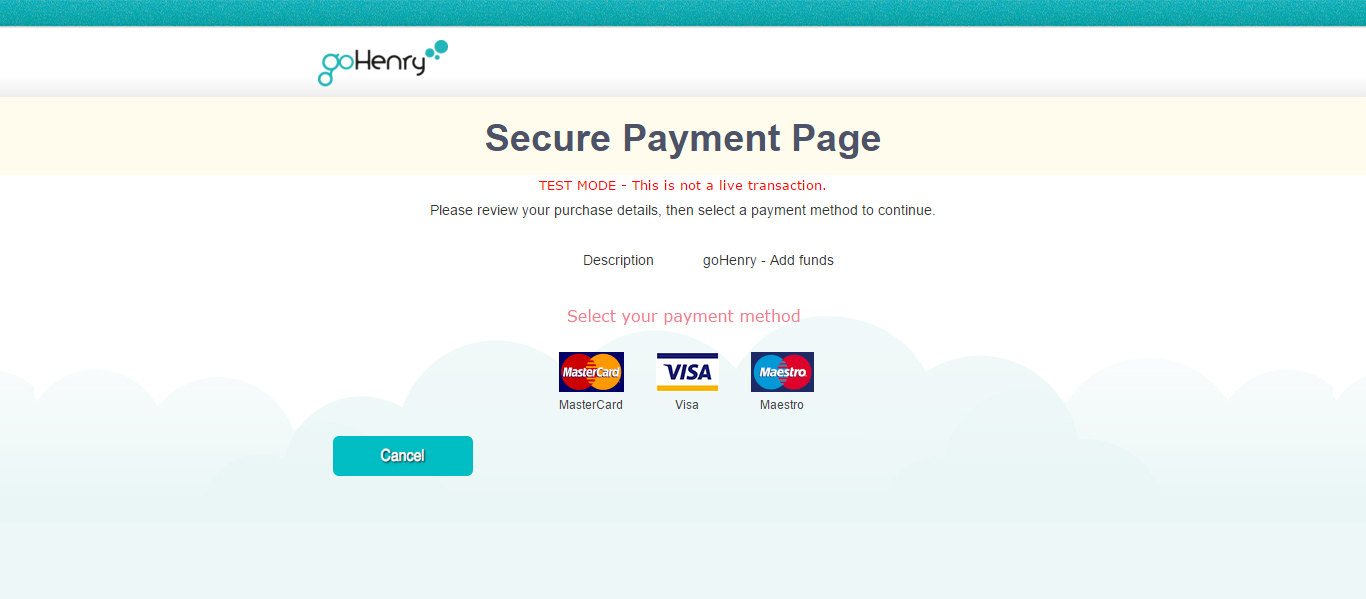 secure payment pag